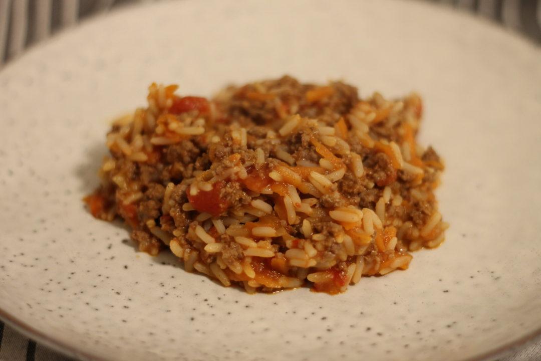 Risret med hakket oksekød