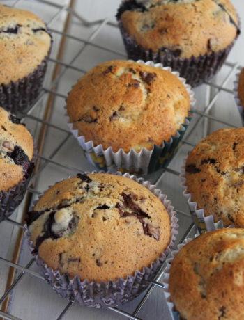 En dej, 2 slags muffins