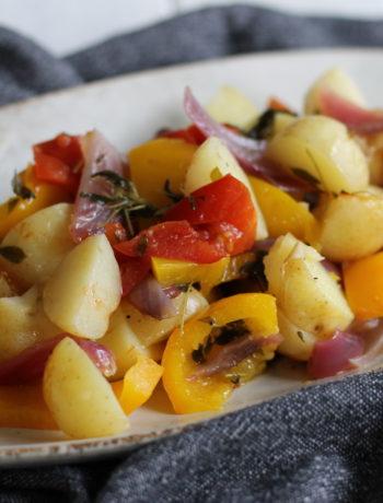 Kartofler og grønsager i staniol