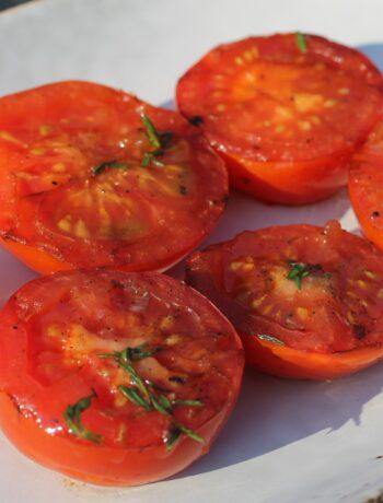 Grillede tomater med timian
