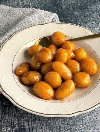 Brunede kartofler i actifry